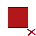 You may not display a red box to represent our logo.