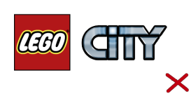 You may not use other product line logos owned by the LEGO Group, for example LEGO City, LEGO Architecture, or LEGO Friends.