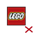 You may not pixilate, distort, or modify the LEGO logo in any way.