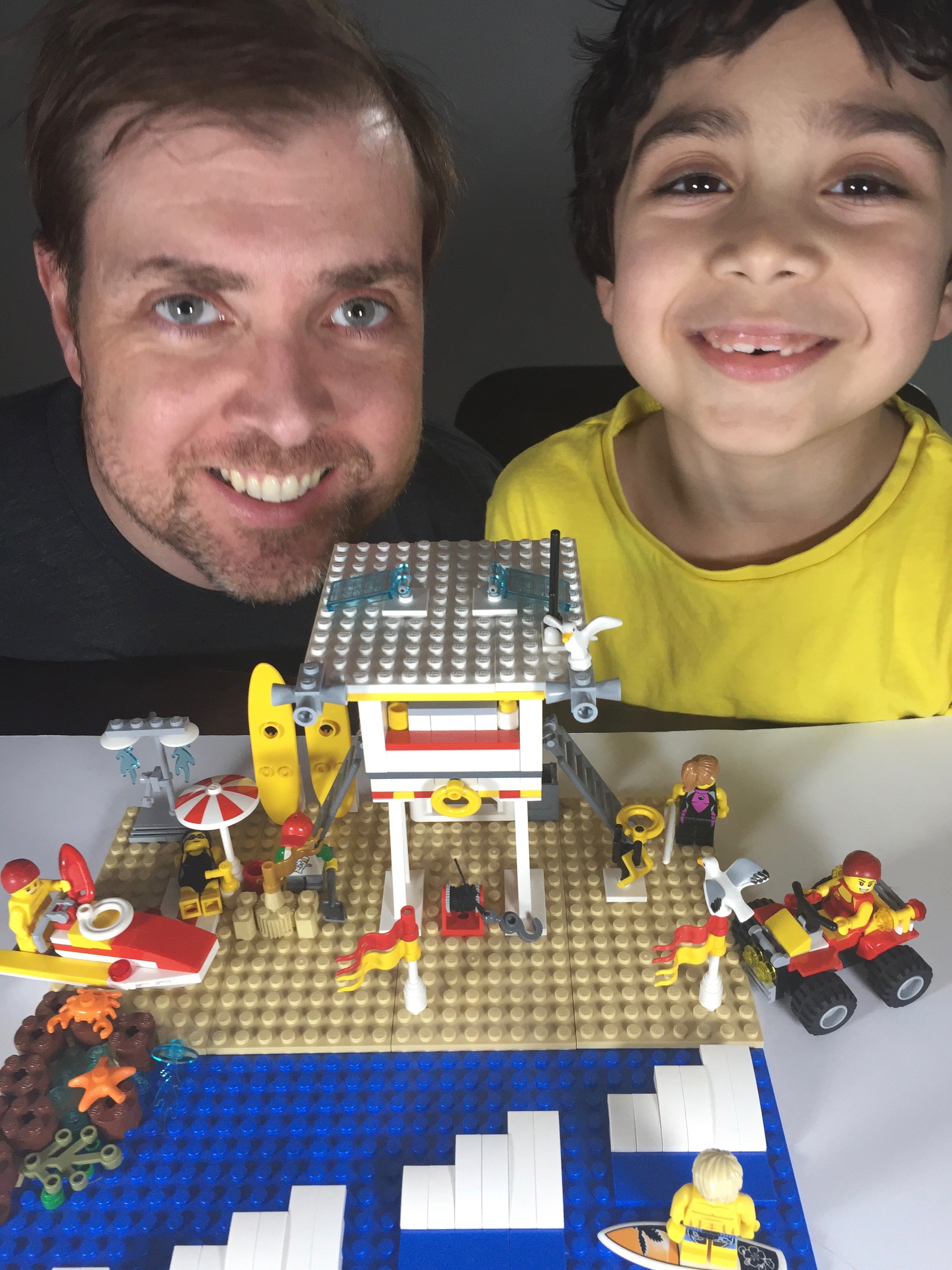 Lego Ideas Blog 10k Club Interview Meet Damien Aiden Macrae Ninjago 70594 The Lighthouse Siege Started And Flash Big Smiles As They Show Off Their Surf Rescue Project
