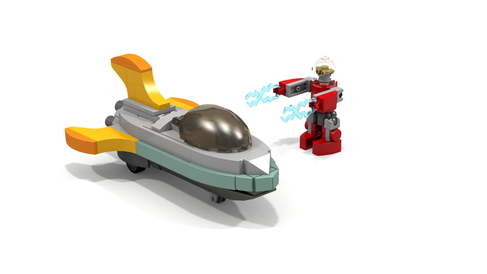 LEGO IDEAS - LEGO Moments in Space - Nick Nova's Spaceship