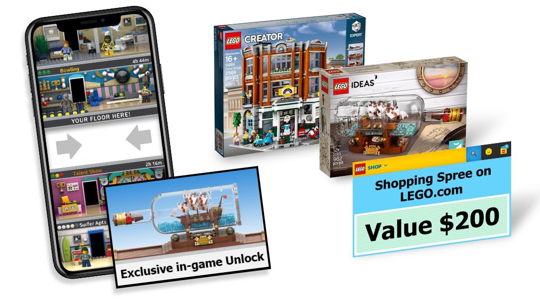 LEGO IDEAS - Design a virtual floor for the LEGO Tower game!