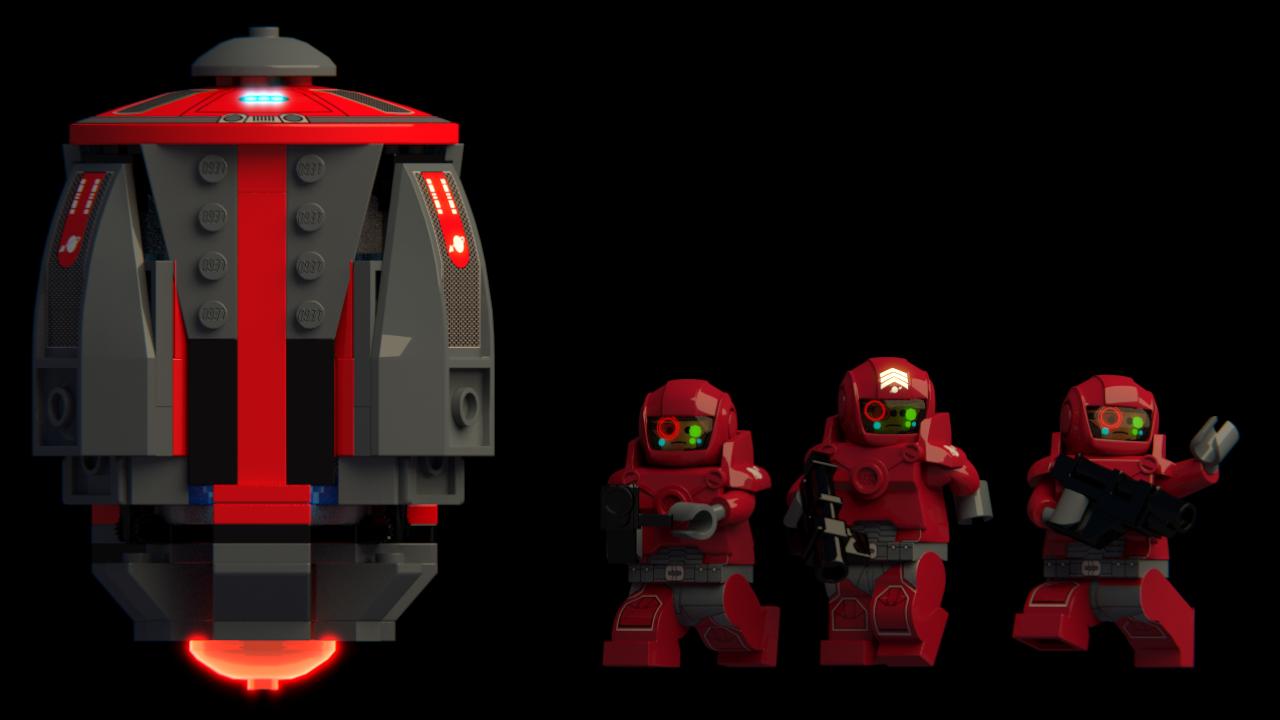 Custom Space Marine Armor /& Helmet Set for Lego Minifigures DARK RED