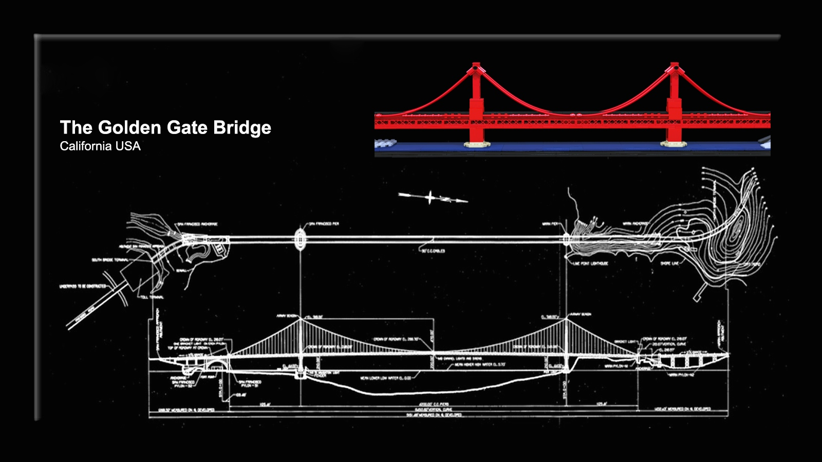 Lego Ideas Product The Golden Gate Bridge Diagram Of Here You Can See How Real One Is Situated