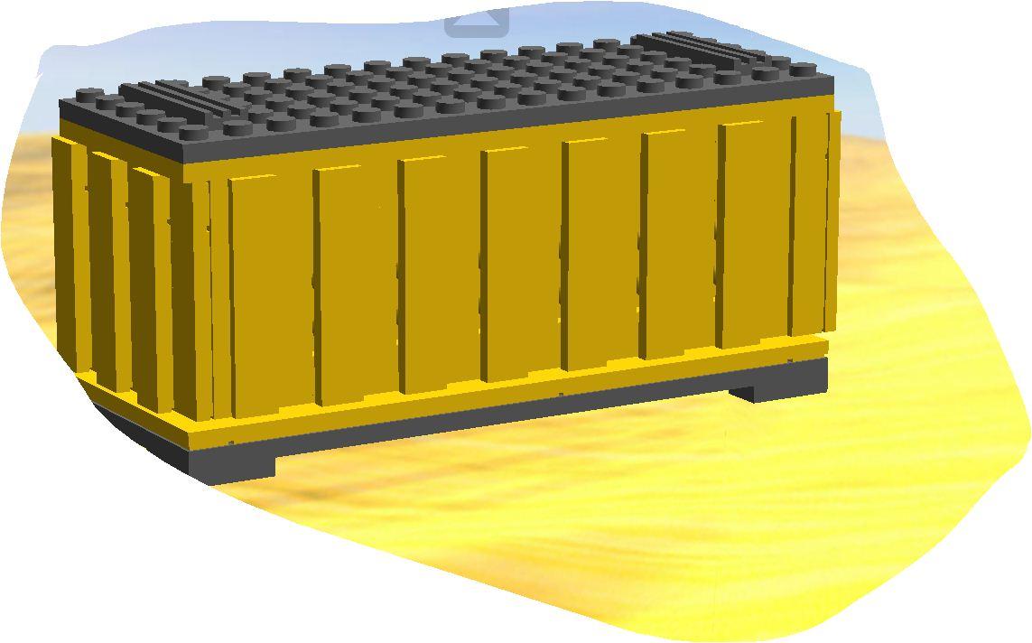 2 Lego 9V 12V Eisenbahn TRAIN Kipper Container in GELB