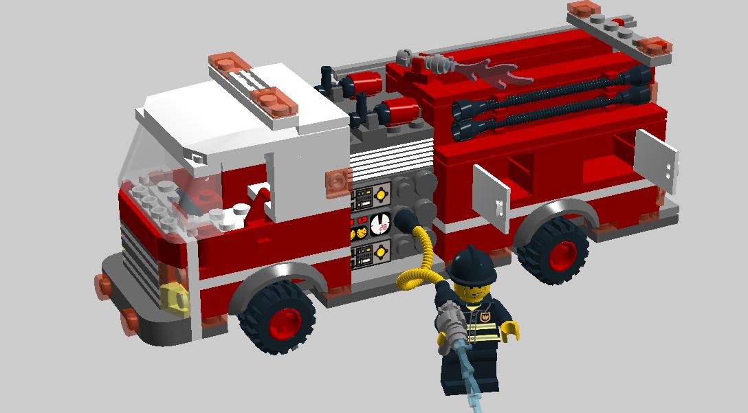 lego city fire engine instructions