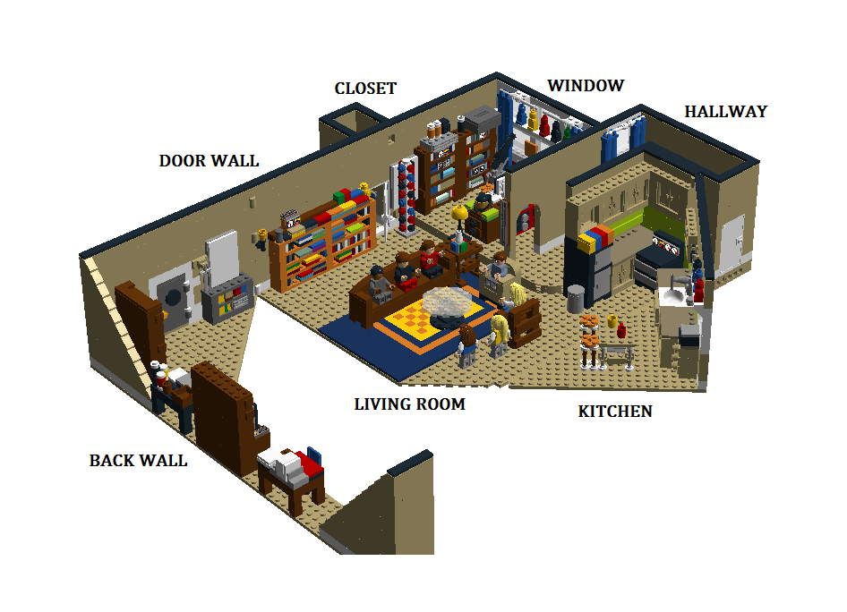 Lego Ideas Product The Bang Theory Sheldon And Leonard S Apartment