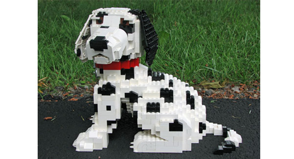 Castle Dog Lego Dalmatian with small bone NEW Pirates City