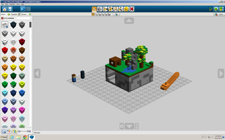 Lego Ideas Product Ideas Minecraft Micro World Jungle Biome