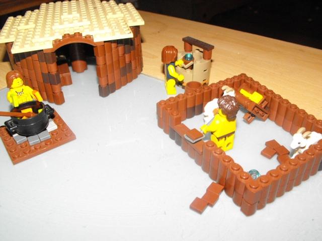 LEGO IDEAS - Product Ideas - ironage round house with goat pen