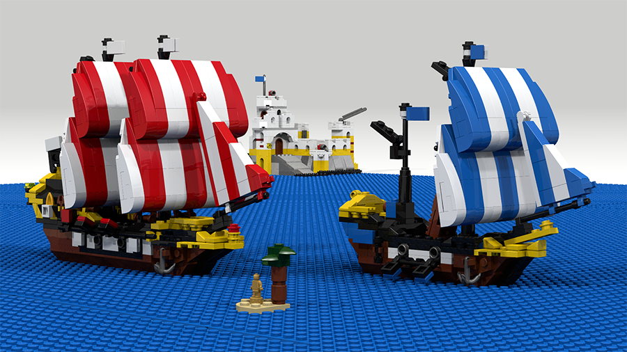 Lego Ideas Product Ideas Miniature 6285 Black Sea Baraccuda