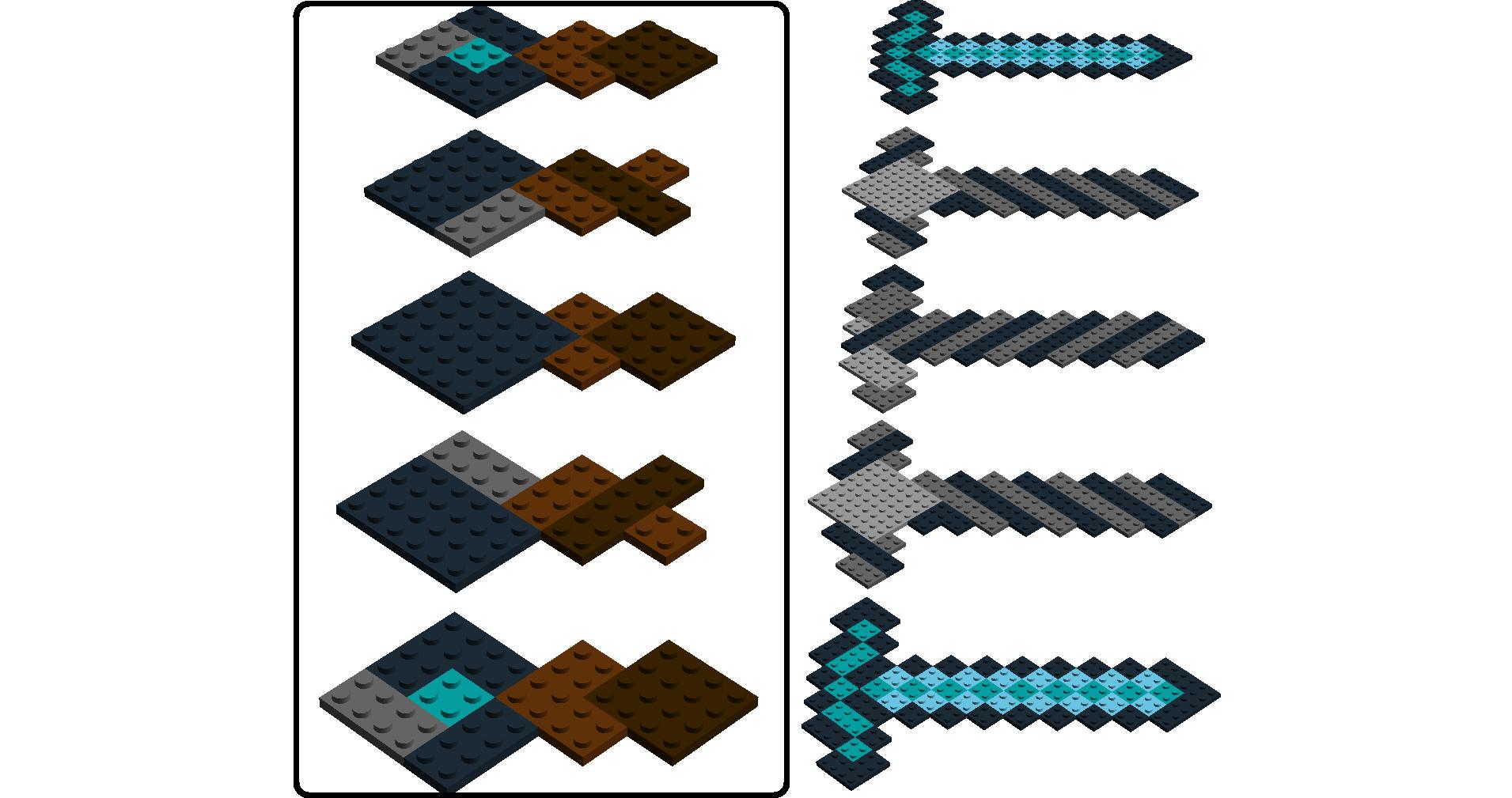 Lego Ideas Product Ideas Minecraft Diamond Sword