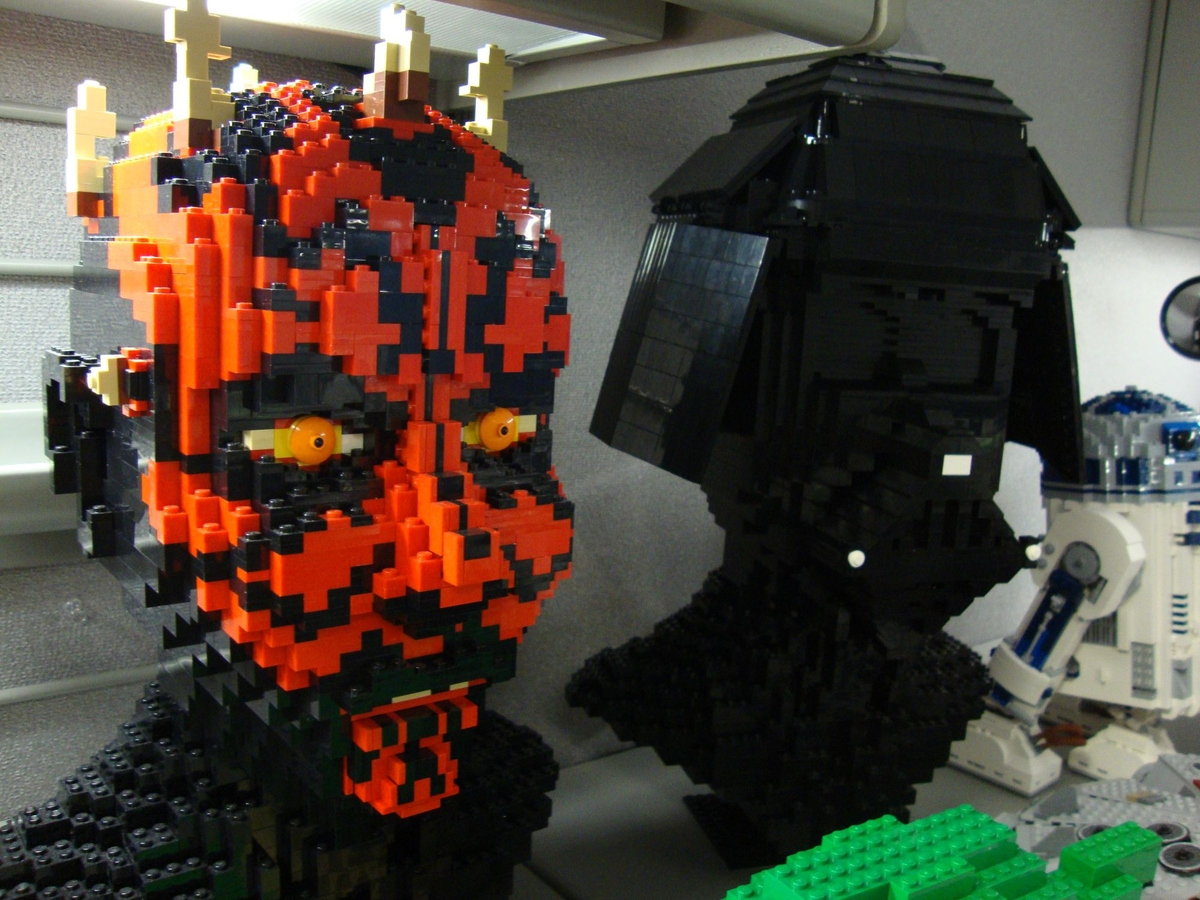 How are Lego sculptures in full size 37