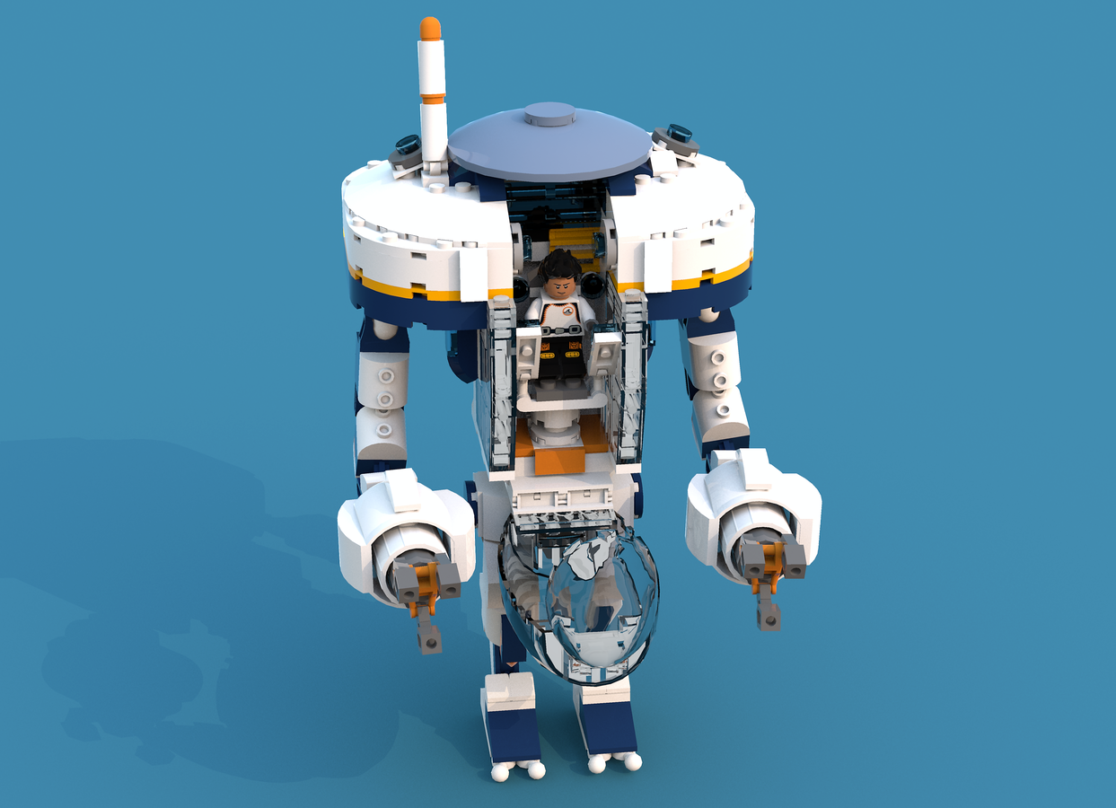 Concept Art Subnautica Prawn Suit