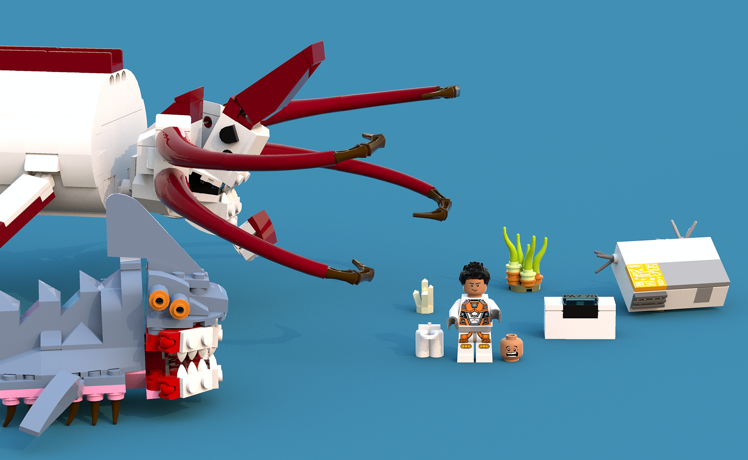 LEGO IDEAS - Product Ideas - Subnautica: Reaper Leviathan Attack