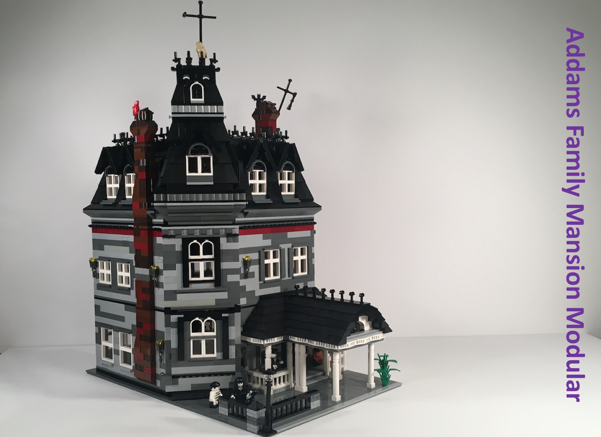LEGO Ideas Addams Family Mansion Modular Achieves 10,000 Supporters