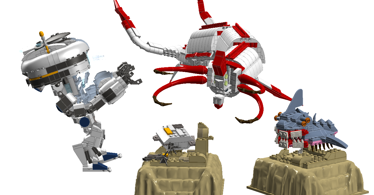 LEGO IDEAS - Product Ideas - Subnautica: Reaper Leviathan Attack