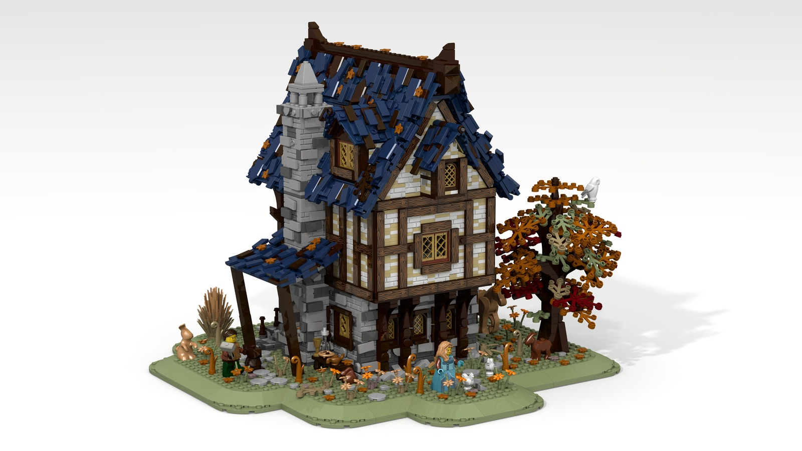 how to build lego medieval house