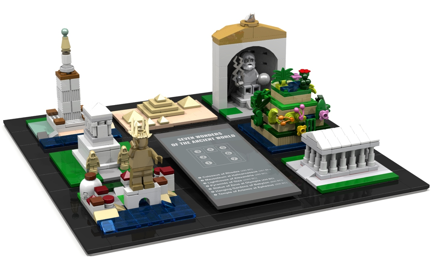 Seven Wonders Of The Ancient World In Microscale