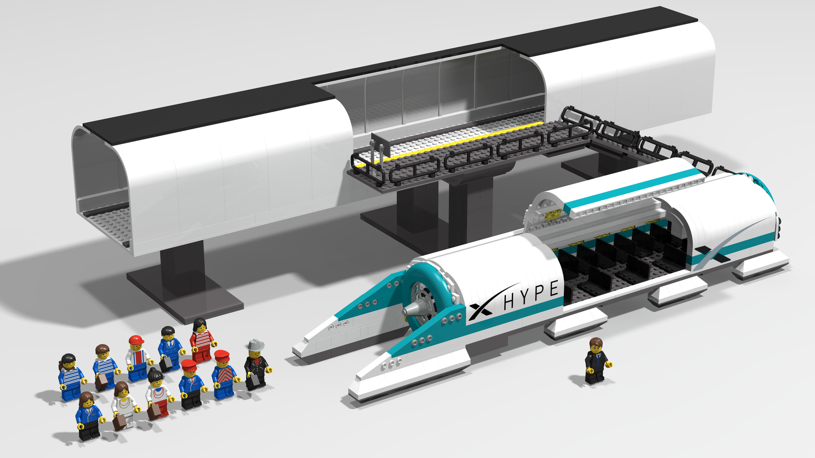hyperloop pod and station