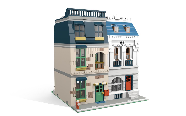LEGO IDEAS - Product Ideas - Modular Townhouse and Shop