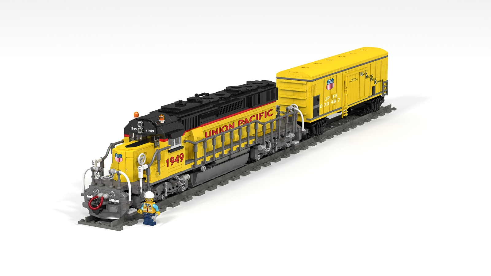 lego ideas product ideas motorized union pacific sd40 2 and