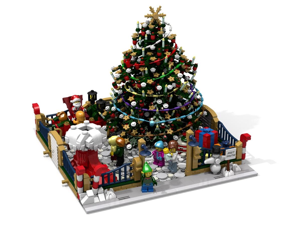 Lego Ideas Product Ideas Modular Christmas Park Meet Santa