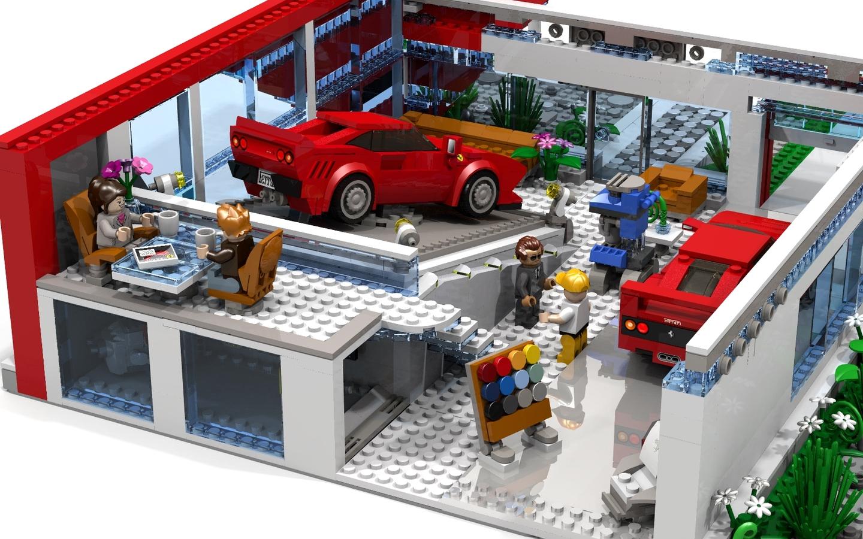 lego ideas product ideas ferrari flagship showroom. Black Bedroom Furniture Sets. Home Design Ideas