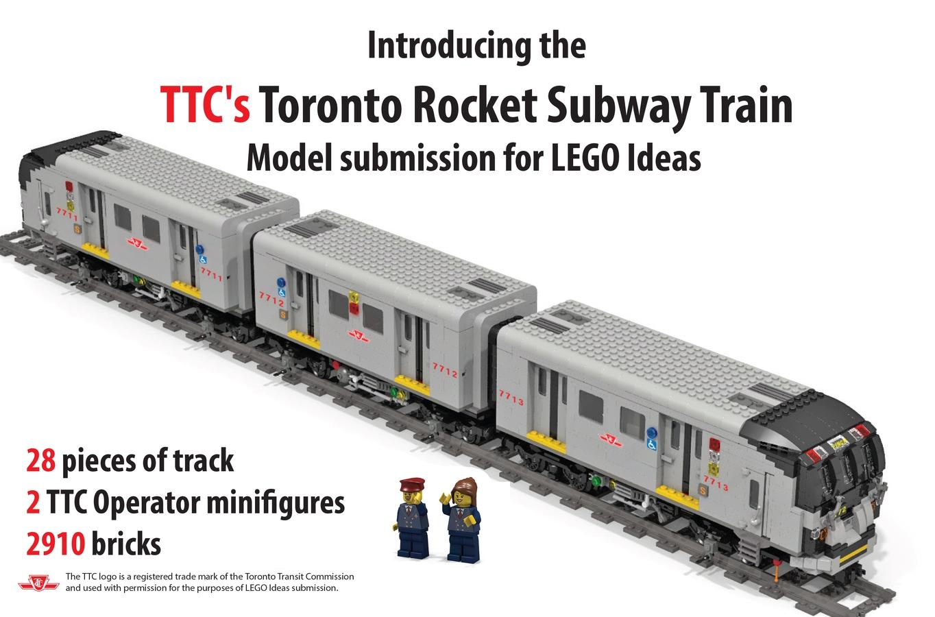LEGO IDEAS - Product Ideas - Toronto Rocket Subway Train