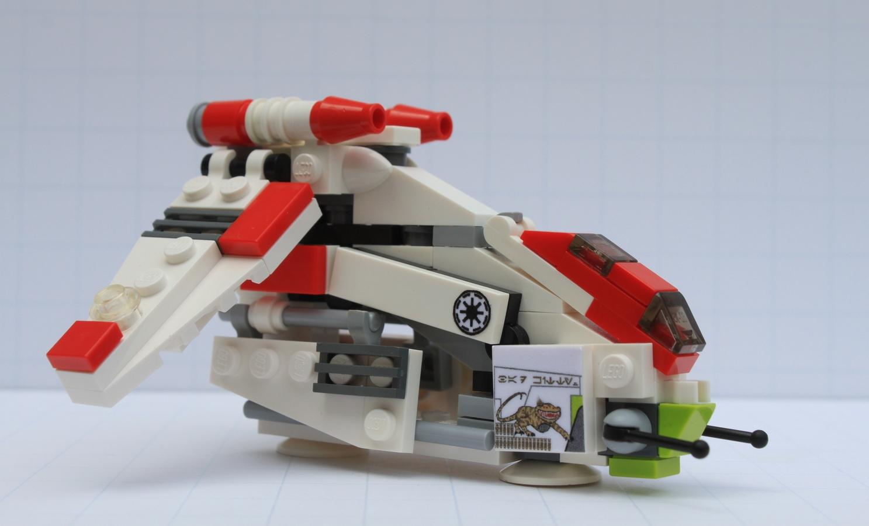 Lego star wars mini republic gunship nexu bad kitty