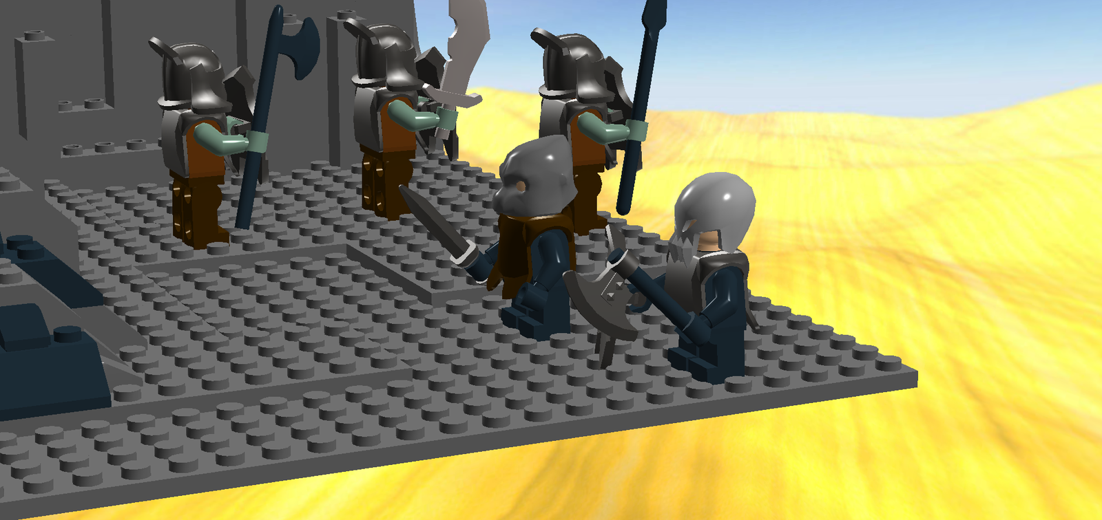 Lego Ideas Product The Lord Of Rings Land Mordor Battle At Black Gate 79007 1 6
