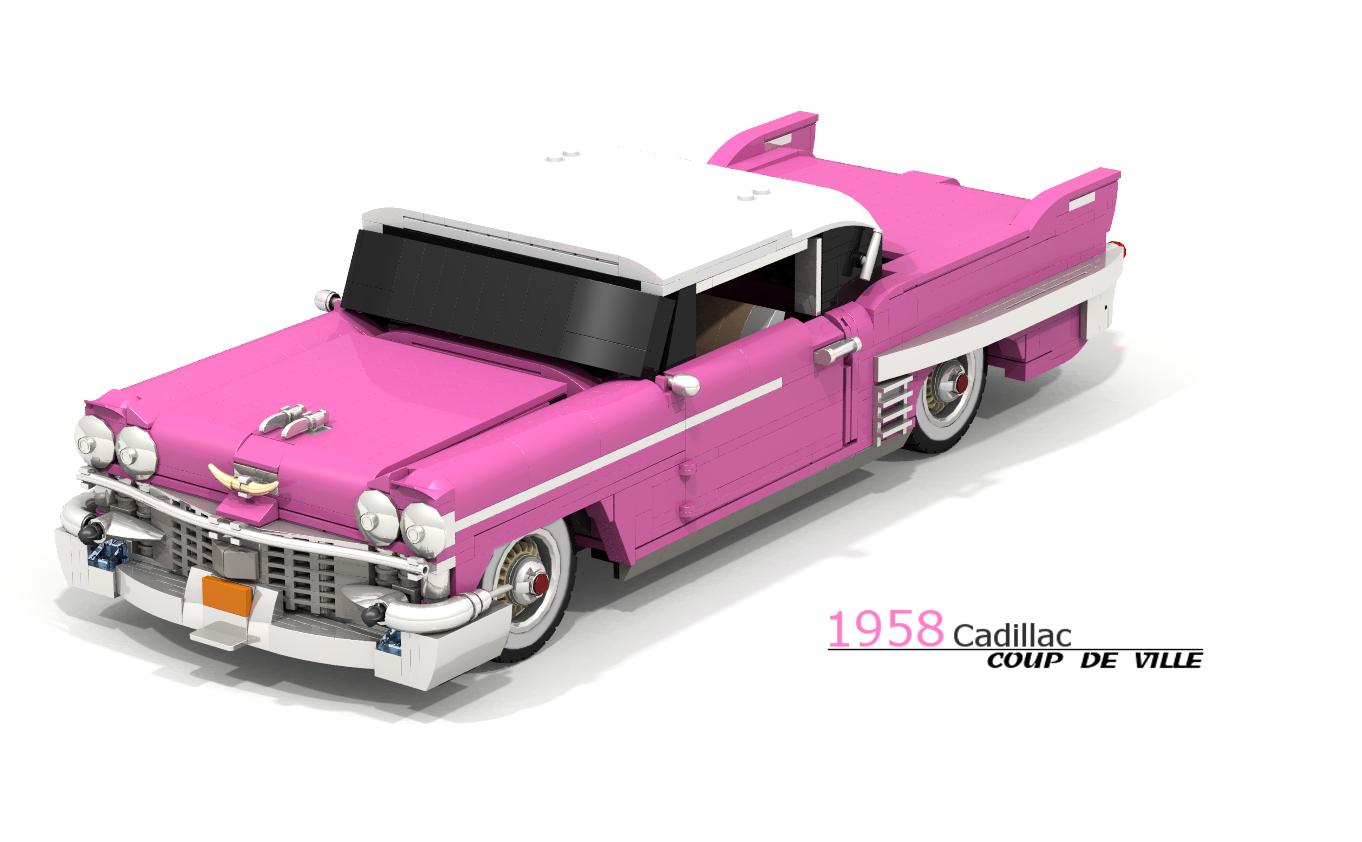 Lego Ideas Product Pink Cadillac 50s V8 Engine