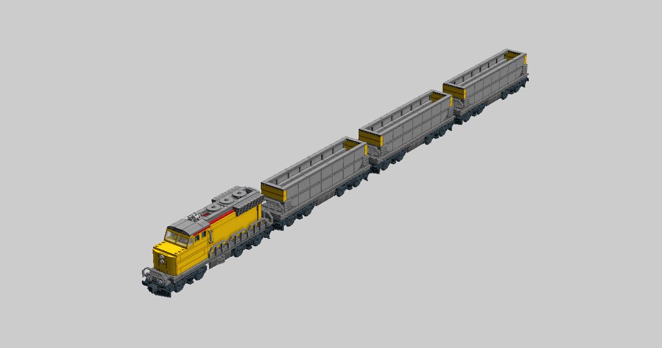 lego ideas product ideas yellow locomotive and coal train