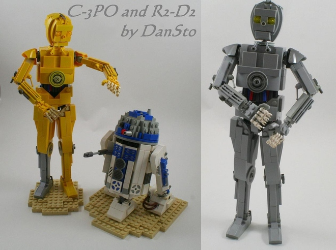 Lego Ideas Product Ideas Mid Size C 3po And R2 D2
