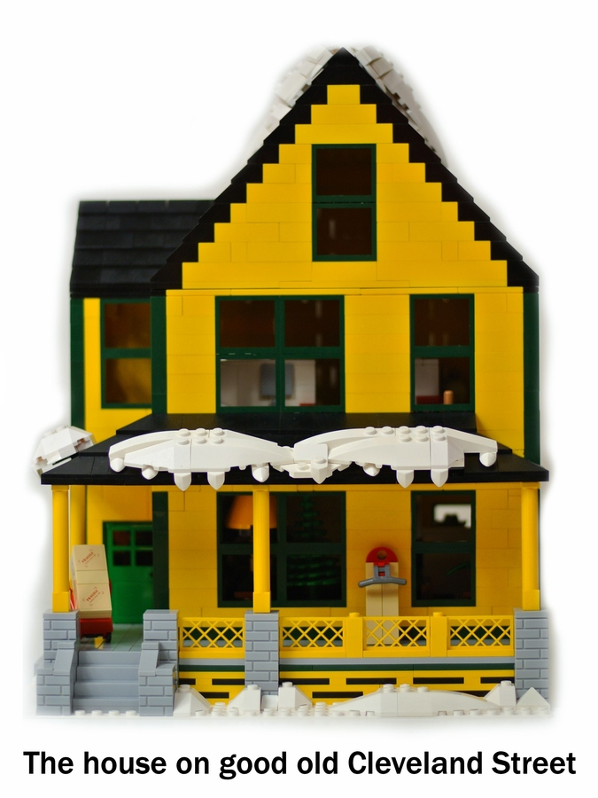 the lego christmas story house