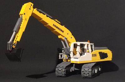 Lego Ideas Product Ideas Liebherr R9800 Excavator