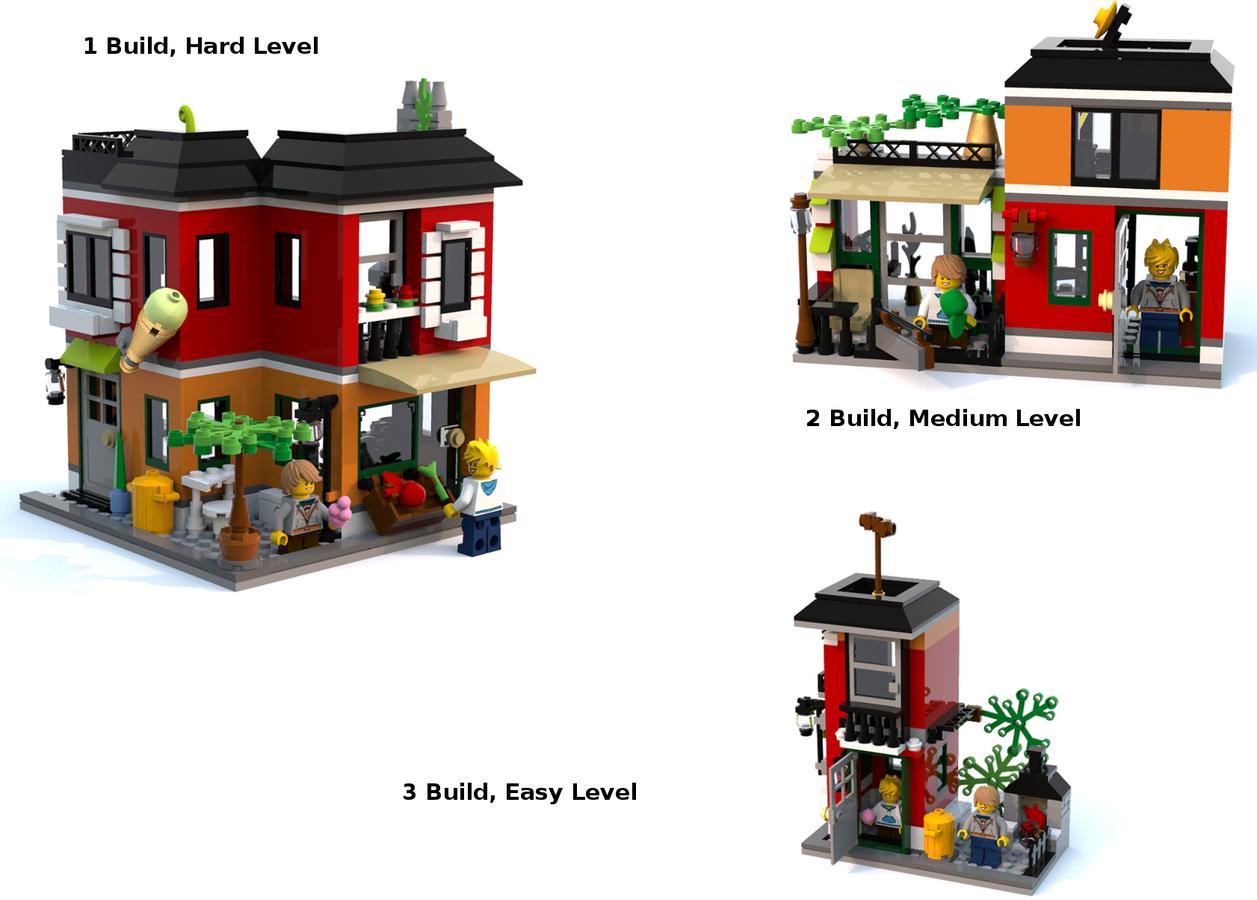 LEGO IDEAS - Product Ideas - Creator 3 in 1 (Corner Ice Cream Shop ...