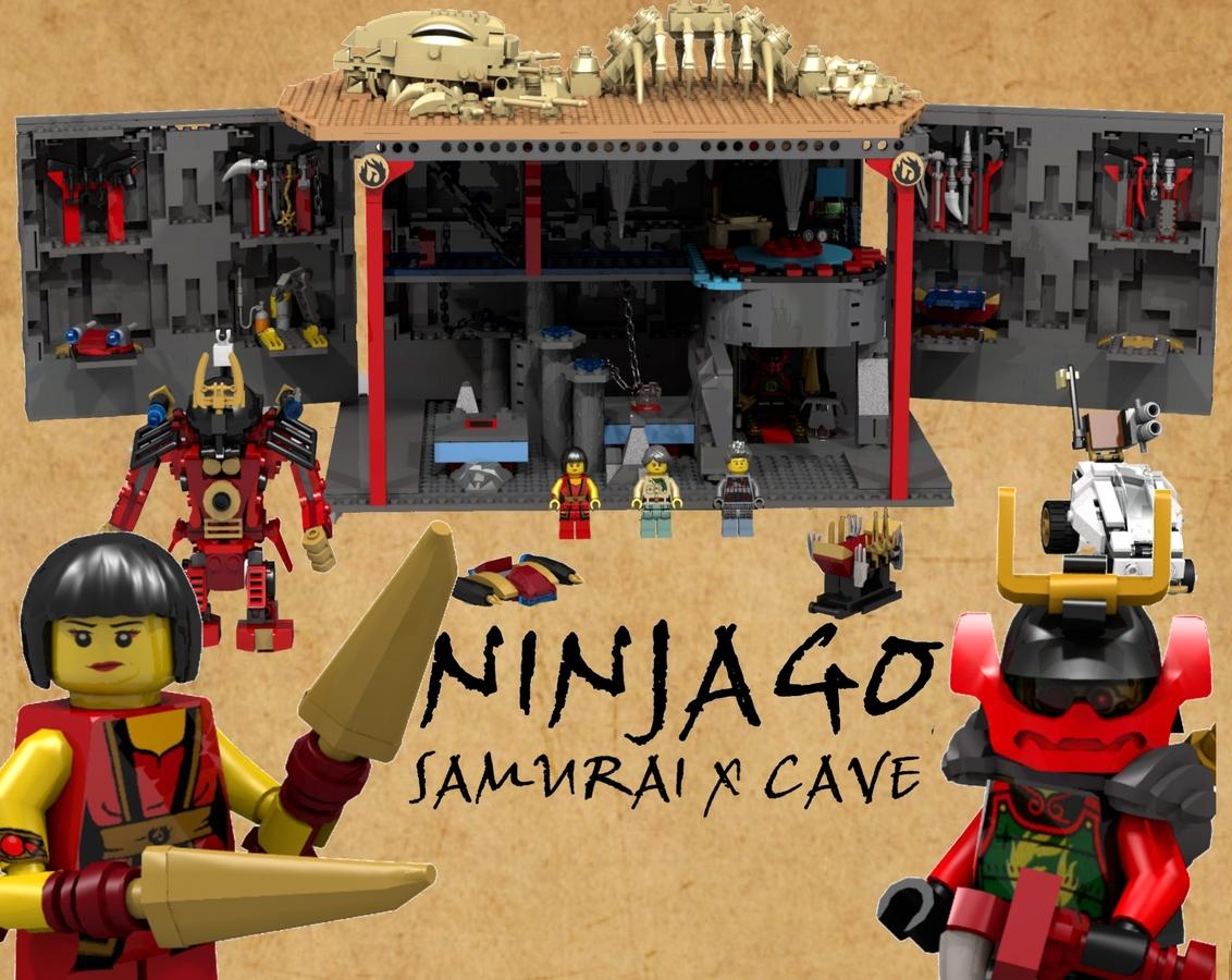 Lego Ideas Product Ninjago Samurai X Cave Sticker