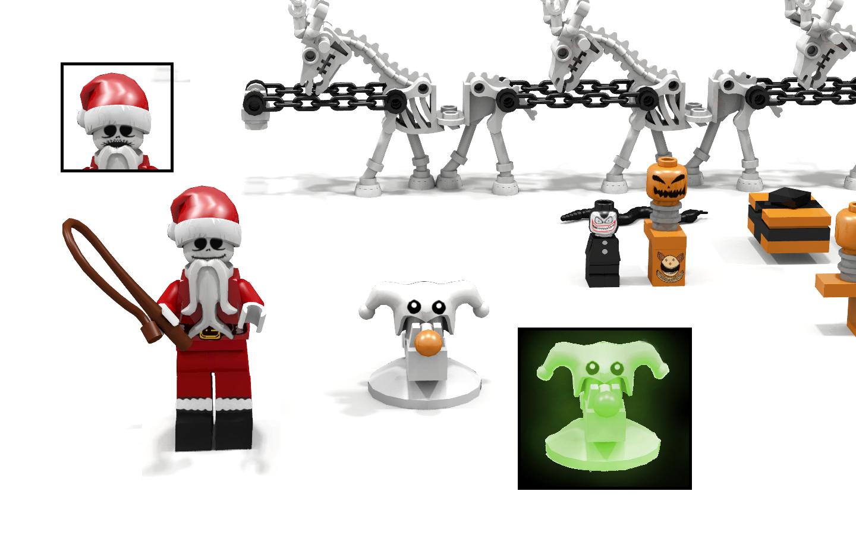 nightmare before christmas jacks santa sleigh 1 8