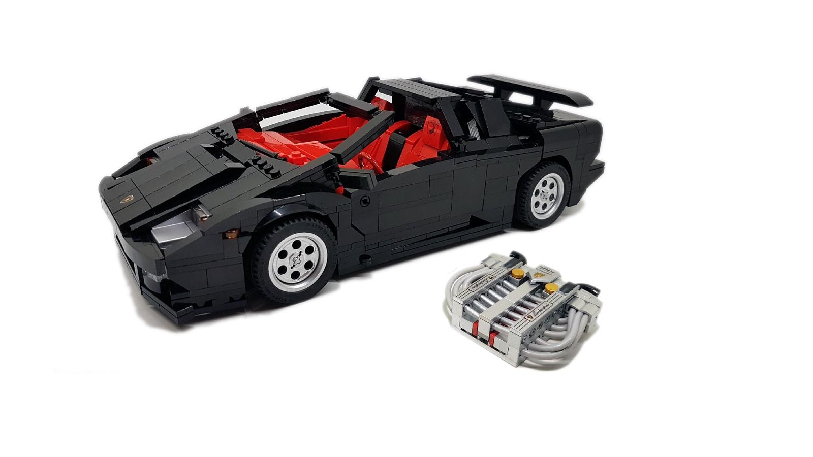 Lamborghini lego car