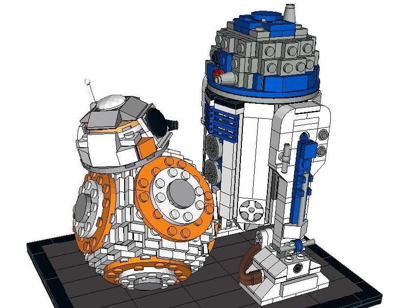 Lego Ideas Product Ideas Bb 8 And R2 D2