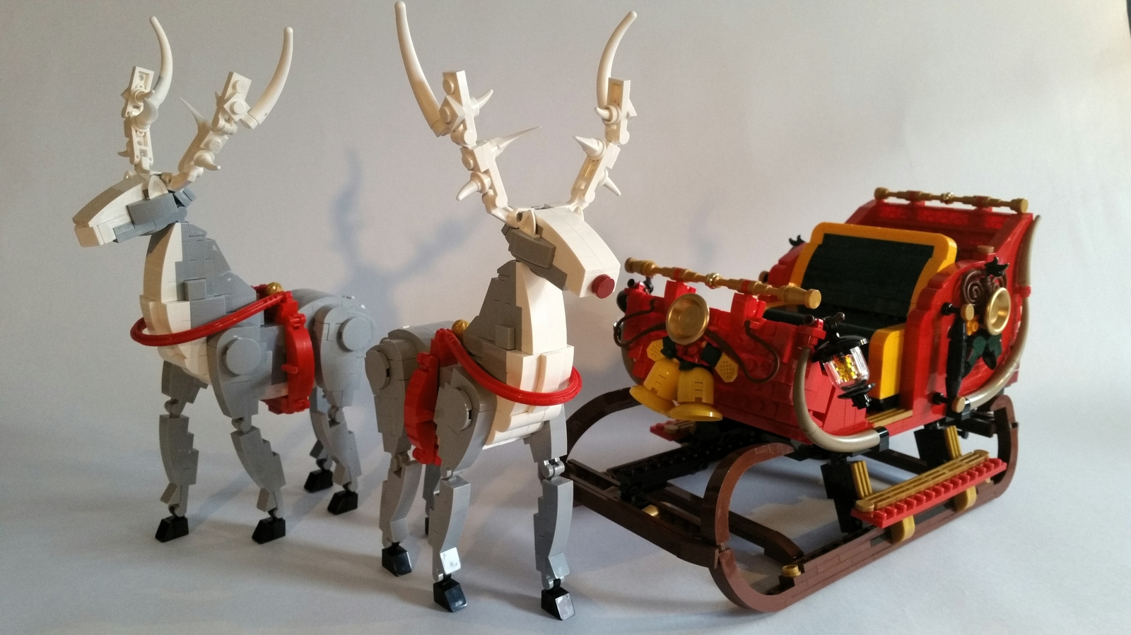 lego ideas product ideas ucs christmas sleigh and 2 reindeers