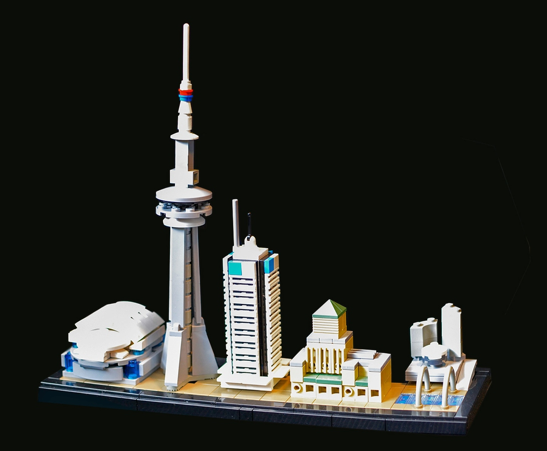 lego architecture toronto canada cn tower canadian