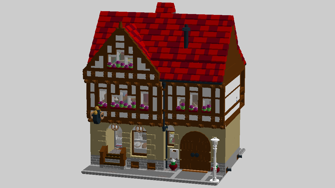 LEGO IDEAS - Product Ideas - Half-Timbered House with Bakery, Wood