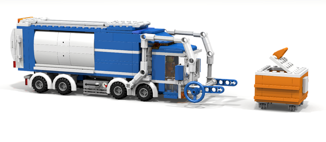 Lego Ideas Product Ideas City Front Loader Garbage Truck