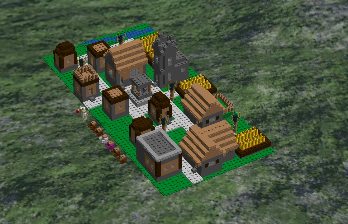 Lego Ideas Product Ideas Minecraft Village