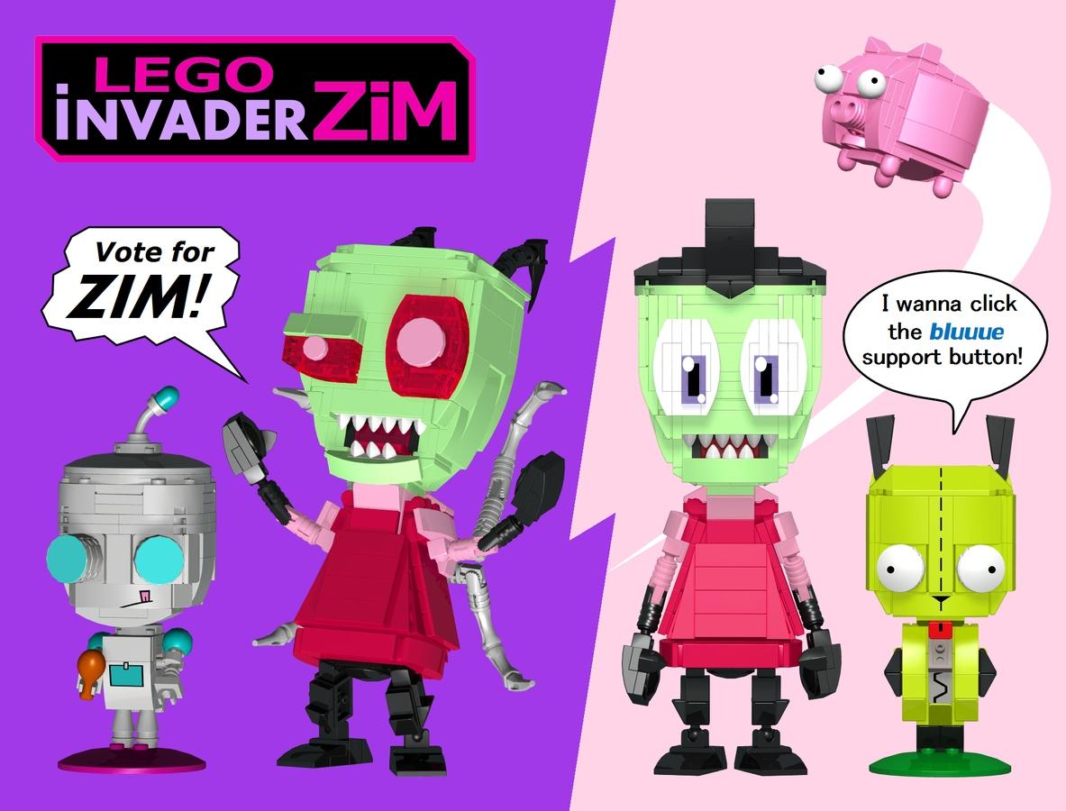 Invader Zim Brick Built Figures