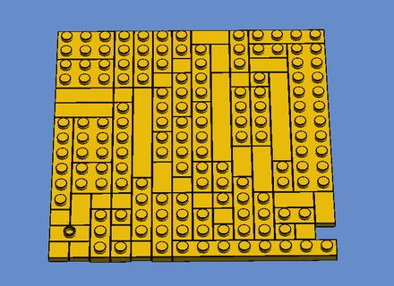 Lego 15x Dark Blue Plate 2 x 3