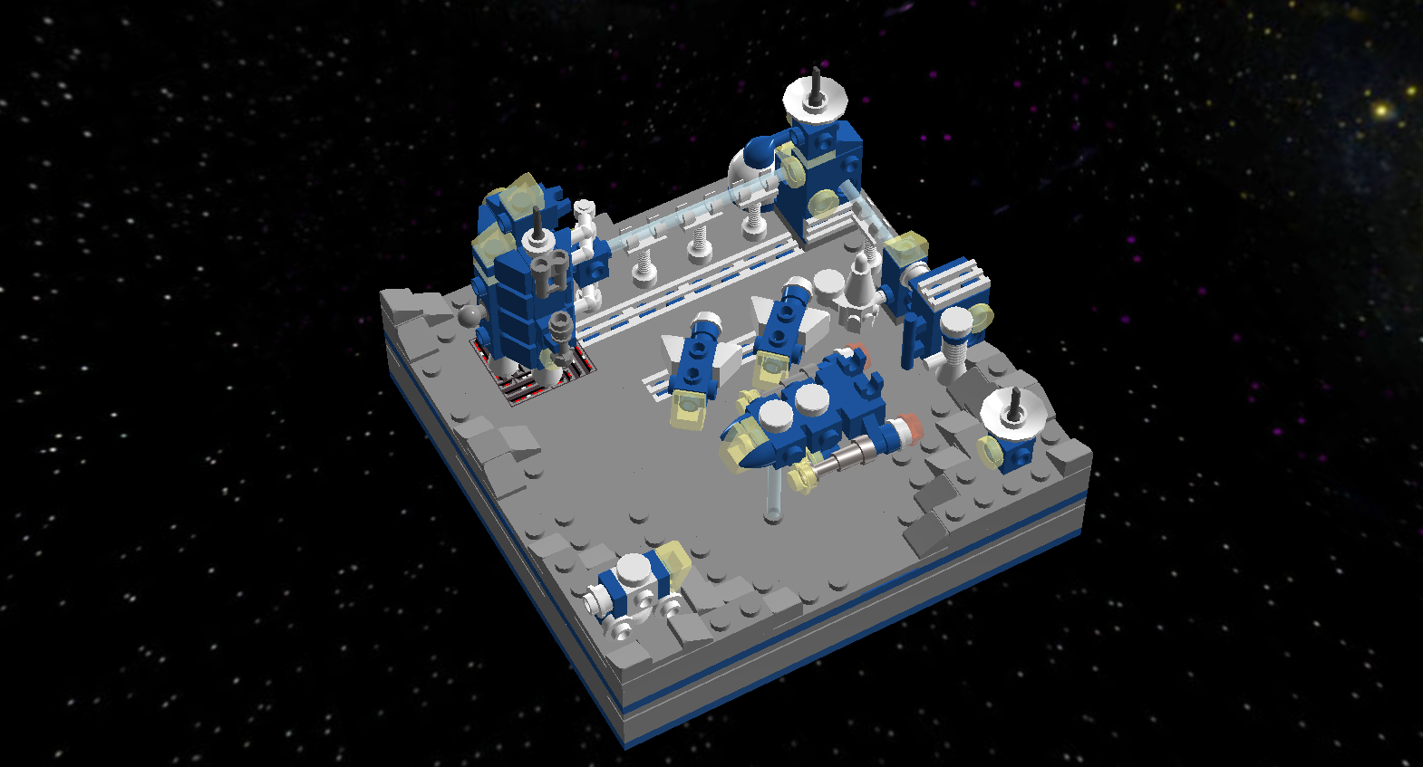 Lego Ideas Lego Moments In Space Moon Base 78 Strategy Game