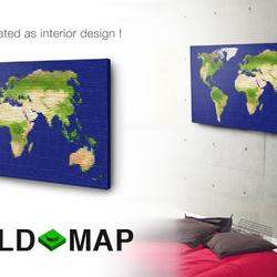 Available Framed. Map of South America showing all countries and major cities along with flags